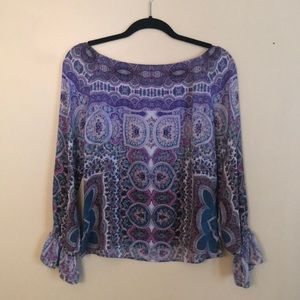 Nanette Lepore silk off-the-shoulder blouse so 2